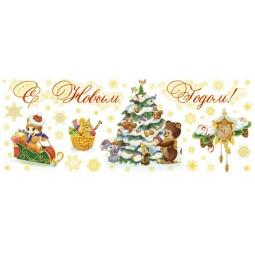 фото Пленка декоративная для окна Феникс-Презент 38631 «Нарядная елочка»