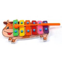 Купить Музыкальный инструмент игрушечный Shantou Gepai «Ксилофон. Коровка»