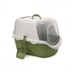 фото Домик-туалет для кошек Beeztees Cathy. Цвет: зеленый, белый
