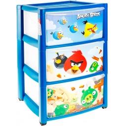фото Комод 3-х секционный ТЦ Бытпласт Angry Birds. Цвет: синий
