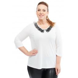 Блуза Лауме-стиль «Заветное признание». Цвет: белый