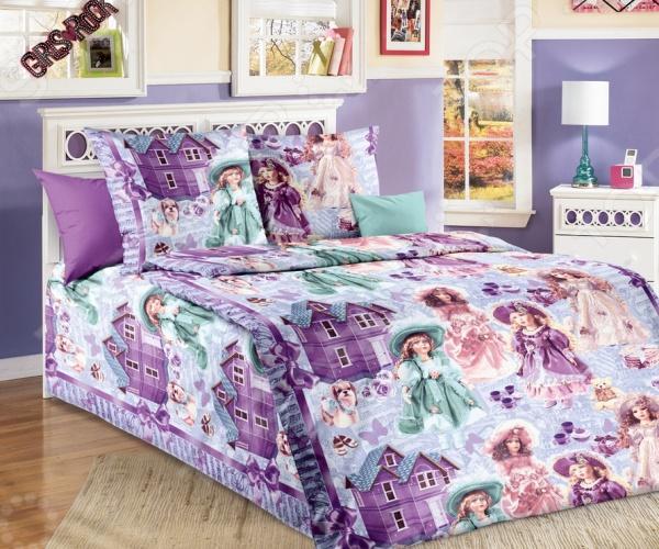 Детский комплект постельного белья Бамбино «Куклы»
