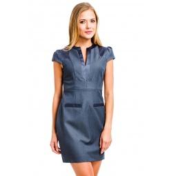 фото Платье Mondigo 9662. Цвет: темно-серый. Размер одежды: 46