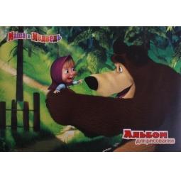 фото Альбом для рисования Росмэн «Маша и медведь» 13953