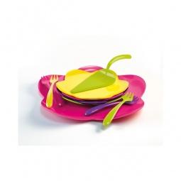 Купить Набор: блюдо, 4 тарелки, 4 вилки, лопатка для торта Zak!designs «Цветочный нектар»