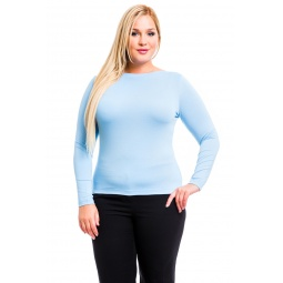 фото Кофта Mondigo XL 405. Цвет: голубой. Размер одежды: 52