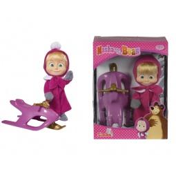 фото Кукла с аксессуарами Simba «Маша в зимней одежде со снегокатом»