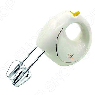 Миксер Irit IR-5406Миксеры<br>Миксер Irit IR-5406 станет отличным дополнением к набору мелкой бытовой техники для кухни. Теперь вы сможете создавать невероятно вкусные и аппетитные блюда, значительно сократив при этом время, потраченное на их приготовление. Миксер подходит для приготовления соусов, воздушных омлетов, теста, кремов и коктейлей. Насадки легко отсоединяются от миксера при помощи специальной кнопки. В комплект поставки входят крюки для теста и венчики для взбивания.<br>