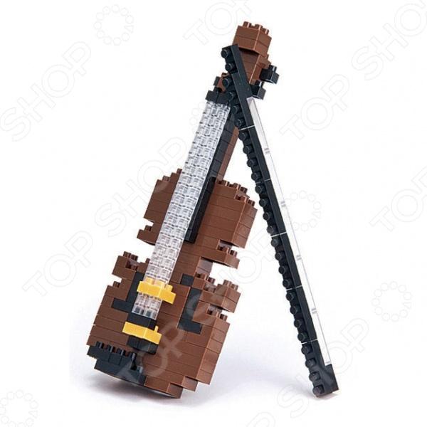Мини-конструктор Nanoblock «Скрипка»Другие виды конструкторов<br>Мини-конструктор Nanoblock Скрипка представляет собой конструктор, собрав который, вы получите музыкальный инструмент в виде очень известного во всем мире музыкального инструмента, который столетиями вдохновлял композиторов писать новые произведения. Собранный музыкальный инструмент украсит любой интерьер своим необычным видом.<br>
