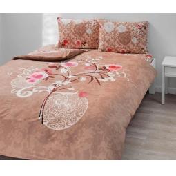 фото Комплект постельного белья TAC Viola. 1,5-спальный. Цвет: коричневый