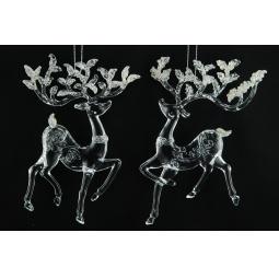 Купить Елочное украшение Crystal Deco «Олень». В ассортименте