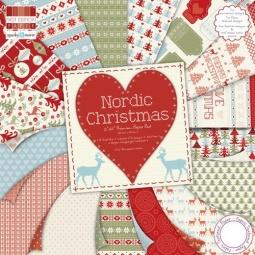 фото Набор бумаги Trimcraft Скандинавское рождество. Количество листов: 64. Размер: 15х15 см