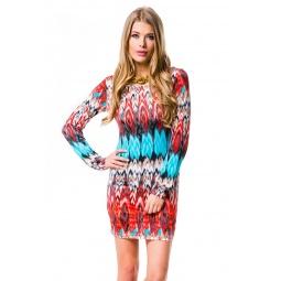 фото Платье Mondigo 8655. Цвет: красный. Размер одежды: 44