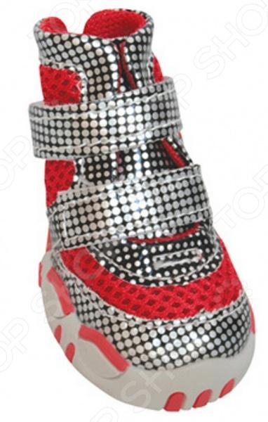 Обувь для собак DEZZIE «Твинкл»Обувь для собак<br>Обувь для собак DEZZIE Твинкл интересная вещь, с помощью которой вы обеспечите вашему питомцу нужный комфорт во время прогулок. Обувь разработана с учетом анатомических особенностей животных, плотно облегает лапу благодаря липучкам. Также имеет язычок-фиксатор для защиты шерсти при застегивании. Резиновая подошва не скользит по льду и не даст лапам промокнуть. Обувь смотрится очень мило, при этом прекрасно сохраняет форму при носке. Из представленного ассортимента можно выбрать размер.<br>