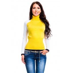 фото Свитер Mondigo 10004. Цвет: ярко-горчичный. Размер одежды: 46