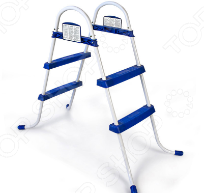 Лестница для бассейна Bestway 58046 бассейн каркасный bestway 56401 bw прямоугольный 221х150х43 см
