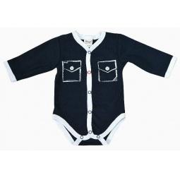 фото Боди для новорожденных с карманами Ёмаё 24-03. Цвет: синий. Размер: 44. Рост: 68-74 см