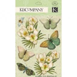 Купить Стикер-украшение K&Company «Белоснежный сад»
