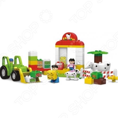 Конструктор игровой Dr.Luck «Маленькая ферма»Игровые конструкторы<br>Конструктор игровой Dr.Luck Маленькая ферма предназначен для таких маленьких, но уже таких любознательных малышей. Внутри яркой упаковки находится набор из 52 деталей. Собрав все части воедино, у ребенка получится небольшая ферма с загоном для коровы, собачкой, трактором и двумя рабочими. Конструктор игровой Dr.Luck Маленькая ферма способствует развитию зрительной координации, воображения и мелкой моторики рук малыша. Кроме того, тренируется наблюдательность, образное восприятие и логическое мышление. Не упустите шанс порадовать своего ребенка замечательным подарком!<br>