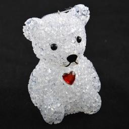 Купить Фигура светящаяся Irit «Мишка с красным сердцем»