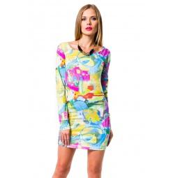 фото Платье Mondigo 8655. Цвет: желтый. Размер одежды: 46