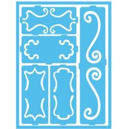 фото Трафарет декоративный для стекла и других поверхностей DecoArt Patio Paint Дамасские декоративные завитки