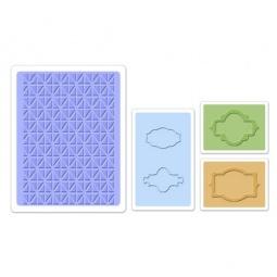фото Набор форм для эмбоссирования Sizzix Textured Impressions Этикетки для баночек
