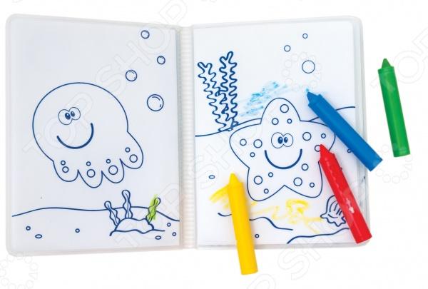 фото Книжка-раскраска для ванной Мир детства «Аквариум», Игрушки для ванной