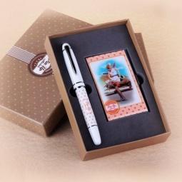 фото Набор подарочный: ручка и визитница Феникс-Презент 28465