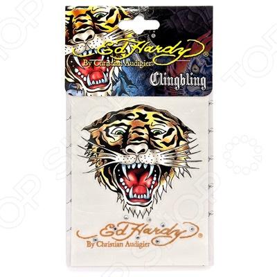 Наклейка со стразами ED Hardy EH-00234 Tiger. Размер: 9х12 см