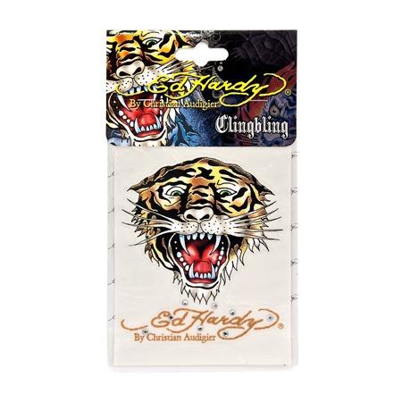 Купить Наклейка со стразами ED Hardy EH-00234 Tiger. Размер: 9х12 см