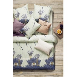 фото Комплект постельного белья Сова и Жаворонок Premium «Лаванда». 1,5-спальный. Размер наволочки: 70х70 см — 2 шт