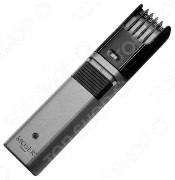 Триммер для бороды и усов Moser 1040-0460Триммеры<br>Триммер для бороды и усов Moser 1040-0460 станет отличным дополнением к набору техники для индивидуального ухода. Прибор прост и удобен в использовании, может работать как от сети, так и в автономном режиме. Триммер снабжен быстросъемным ножевым блоком, семипозиционной регулируемой насадкой и энергосберегающим сетевым адаптером. Лезвия прибора выполнены из высокопрочной стали. В комплект поставки входит щеточка для чистки и масло для смазывания лезвий.<br>