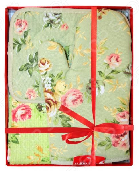 Комплект кухонный подарочный BONITA «Английская коллекция» 2001212178 полотенце valentini комплект кухонный 50x50 limoni fortes