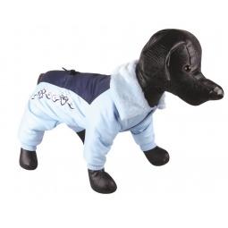 Купить Комбинезон для собак DEZZIE «Рафи». Цвет: белый, синий