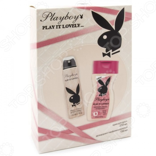 Набор женский: дезодорант-спрей и крем для душа Playboy Play it Lovely