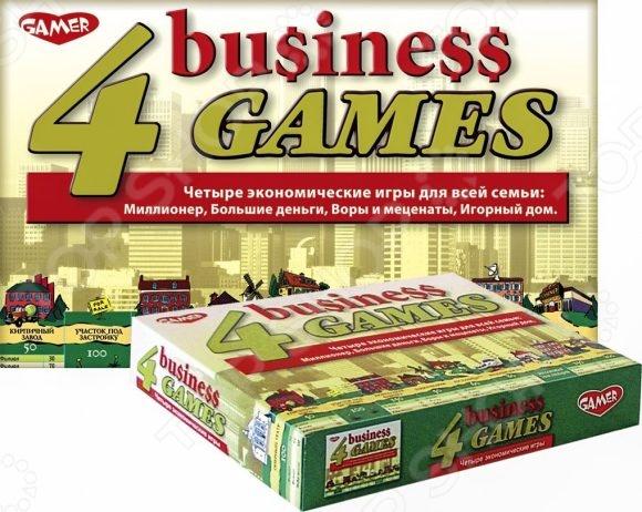 Настольная игра Dream Makers «4 экономические игры»Экономические игры<br>Настольная игра Dream Makers 4 экономические игры отлично подойдет для организации семейного досуга и подарит вам часы веселого и увлекательного времяпрепровождения в кругу друзей и близких. В набор входят такие известные экономические игры, как: Миллионер , Большие деньги , Игорный дом и Воры и меценаты . Последняя является новинкой. Она обязательно придется по вкусу любителям настольных игр и даст возможность попробовать себя в роли коллекционера известных картин.<br>