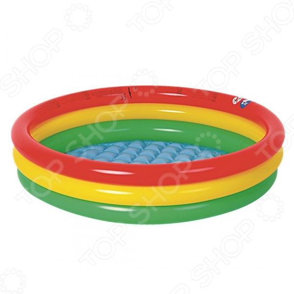 Бассейн надувной Jilong Round Baby PoolНадувные бассейны<br>Бассейн надувной Jilong Round Baby Pool прекрасно подойдет для водных забав вашего малыша. Вы можете установить его во дворе, на даче, или взять с собой на природу, ведь так приятно и весело плескаться в прохладной воде жарким летним днем. Представленная модель это отличное решение для родителей, которые хотят искупать или приучить своих детей не бояться воды. Разумная цена, хорошее качество и море позитива.<br>