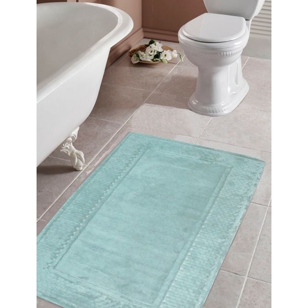 фото Коврик для ванной Tac Leo. Цвет: бирюзовый