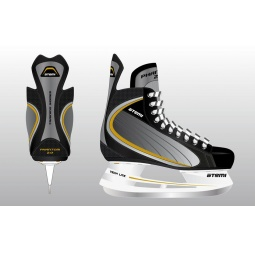 фото Коньки хоккейные ATEMI PHANTOM 2.0 GOLD. Размер: 33