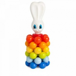 фото Игрушка-пирамидка Росигрушка «Зайка с шариками»