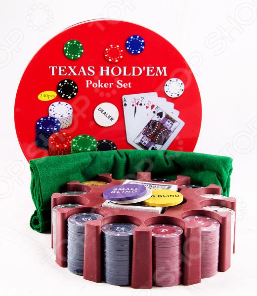Набор игровой подарочный «Покер» 42448Блэкджек. Покер<br>Набор игровой подарочный Покер 42448 комплект для азартных игроков. Наверняка придутся по вкусу любителям карточных игр, типа Покера, Билот и других. Колоду можно брать с собой в дорогу или играть дома с друзьями. Изображения яркие и красочные, классического типа. В набор входят колоды карт и профессиональные фишки для покера. Рекомендуется регулярно удалять пыль сухой, мягкой тканью; а также беречь от влаги.<br>