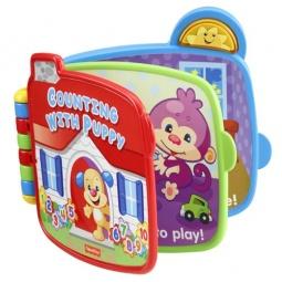 фото Книжка-игрушка интерактивная Fisher Price CJW66 «Считаем с ученым щенком»