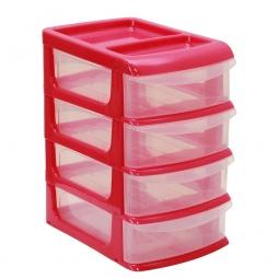 фото Бокс для хранения мелочей средний IDEA М 2765. Цвет: малиновый. Количество полок: 4