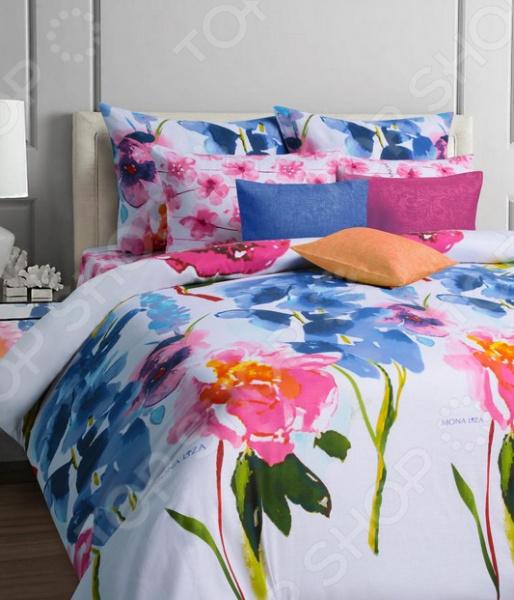 Комплект постельного белья Mona Liza Palitra. СемейныйСемейные<br>Комплект постельного белья Mona Liza Palitra это удобное постельное белье, которое подойдет для ежедневного использования. Чтобы ваш сон всегда был приятным, а пробуждение легким, необходимо подобрать то постельное белье, которое будет соответствовать всем вашим пожеланиям. Приятный цвет, нежный принт и высокое качество ткани обеспечат вам крепкий и спокойный сон. 100 хлопок, из которого сшит комплект отличается следующими качествами:  ткань достаточно мягка и приятна на ощупь, не имеет склонности к скатыванию, линянию, протиранию, обладает повышенной гигроскопичностью, практически не мнется, не растягивается, не садится, не выгорает, гипоаллергенна, хорошо отстирывается и не теряет при этом своих насыщенных цветов;  прошивается исключительно бельевым швом и крепкими нитками в тон комплекта;  за счёт специального переплетения волокон ткань устойчива к механическим воздействиям. Ткань устойчива к механическим воздействиям. Перед первым применением комплект постельного белья рекомендуется постирать. Перед стиркой выверните наизнанку наволочки и пододеяльник. Для сохранения цвета не используйте порошки, которые содержат отбеливатель. Рекомендуемая температура стирки: 40 С и ниже без использования кондиционера или смягчителя воды.<br>