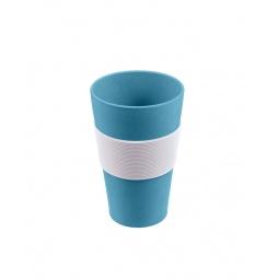 фото Стакан для горячих напитков Lurch с защитной накладкой. Цвет: голубой