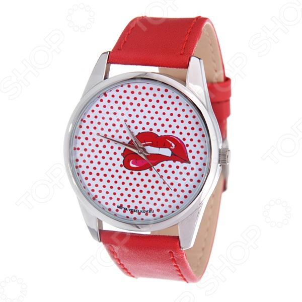 Часы наручные Mitya Veselkov «Губы» Color часы наручные mitya veselkov райский сад color