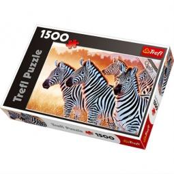Купить Пазл 1500 элементов Trefl «Зебры»