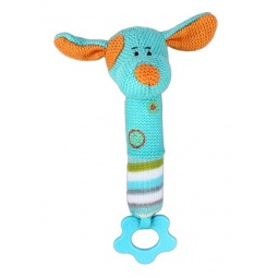 фото Мягкая игрушка развивающая Жирафики 93914 «Собачка с пищалкой»