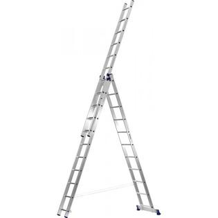 Купить Лестница трехсекционная со стабилизатором Сибин 38833